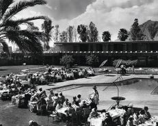 A poolside fashion show at the original Hotel Valley Ho in the late 1950s PHOTOS COURTESY OF HOTEL VALLEY HO